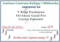 V Biegi Przełajowe XXI Edycji Grand Prix Czarnej Dąbrówki